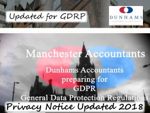 Dunhams Financial Planning, Updated Privacy Notice