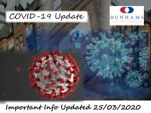Dunhams Covid-19 Update logo