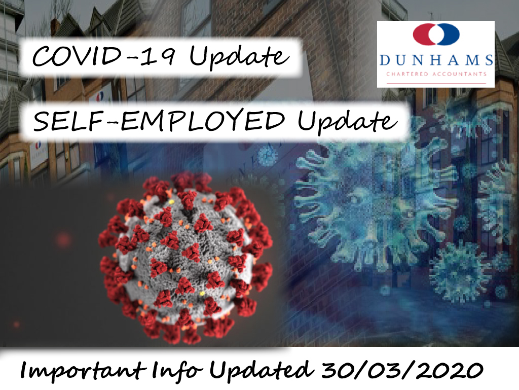Covid-19 Self-Employed Update from Dunhams Accountants and Financial Services